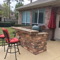 Big Green Egg Island Design In Houston