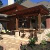 Pergola, Firepit, Outdoor Kitchen Heat Up Houston Patio