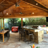 Large Covered Patio in Houston Offers Permanently Heated, Waterproof Gathering Space
