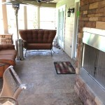Second Story Balcony Project With Fireplace