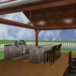 Freestanding covered backyard patio