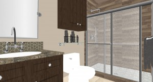 Bathroom remodel rendering