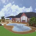 Texas Backyard Remodel Rendering