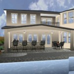 Full 3d Project Rendering For Patio Design