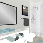 bathroom interior design 3d rendering