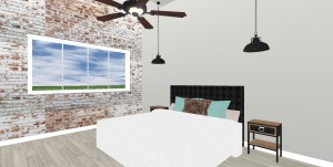 bedroom remodel 3d rendering