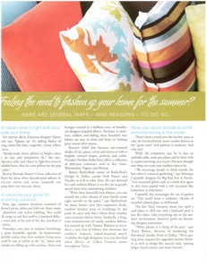 Outdoor Homescapes in Houston Texas Magazine Article