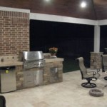 Outdoor Fridge and BBQ