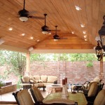 Outdoor living space designs like this take a lot of planning, especially when there's a covered patio or outdoor dining area or seating area involved.