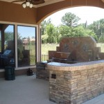 Built-in Grill in Outdoor Kitchen
