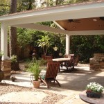 Outside covered patio