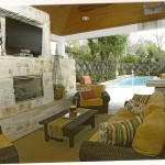 tv over fireplace outdoor homescapes covered patio