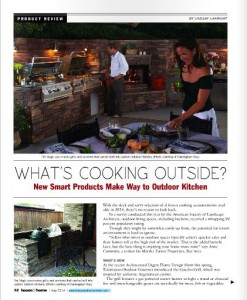 "Article ""What's Cooking Outside?"" from May 2014 issue of House & Home magazine in Houston. Part of a blog post by Outdoor Homescapes of Houston on www.outdoorhomescapes.com in which company owner Wayne Franks talks about Houston outdoor kitchens trending toward multiple grills. More at www.outdoorhomescapes.com/blog"