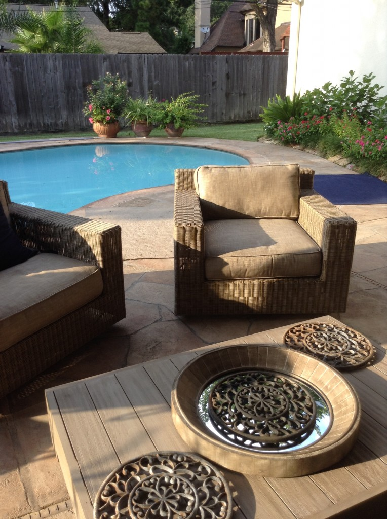 Outdoor furniture transformed this outdoor living design by Outdoor Homescapes of Houston.