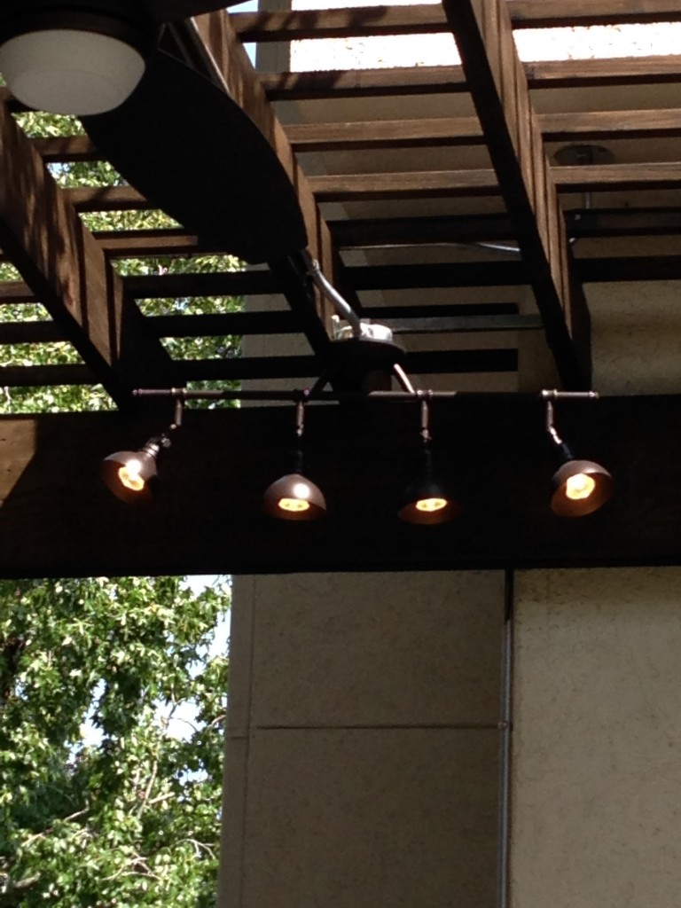 This Image Of Outdoor Track Lighting By Restoration Hardware Goes With