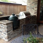 big green egg by door - smaller