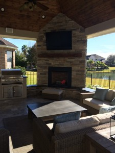 Outdoor Homescape's custom covered patio