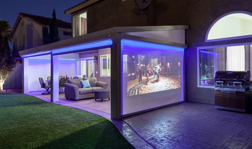 Outdoor Projector Enclosure in addition Celebrate Football Houston By Watching The Game On The Patio also Watch in addition 118903 Immersive Video Walls Will Put Retina Displays To Shame furthermore ProductScreenFreeFrameInstructions. on tv projector outside