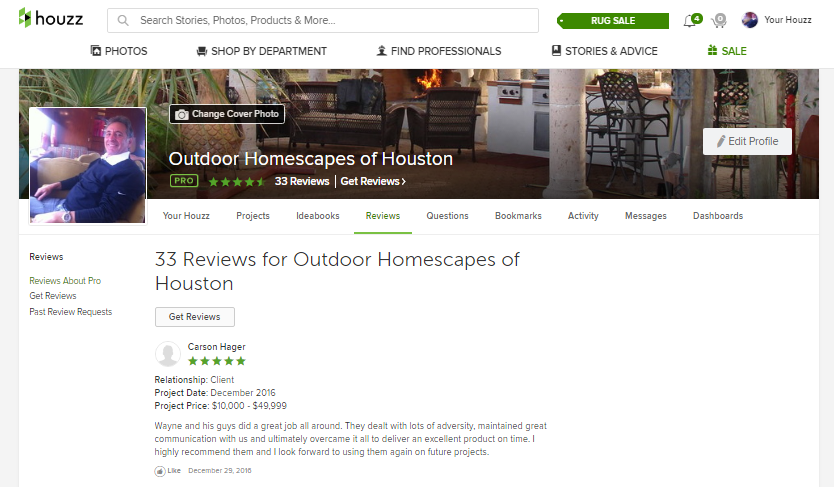 screenshot best of houzz 2017 top of reviews page