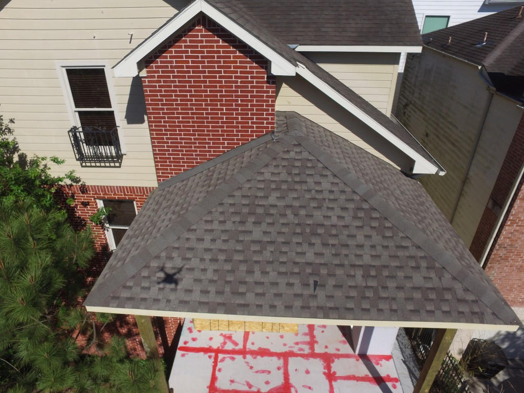 Aerial Imagery of a Outdoor Patio Project