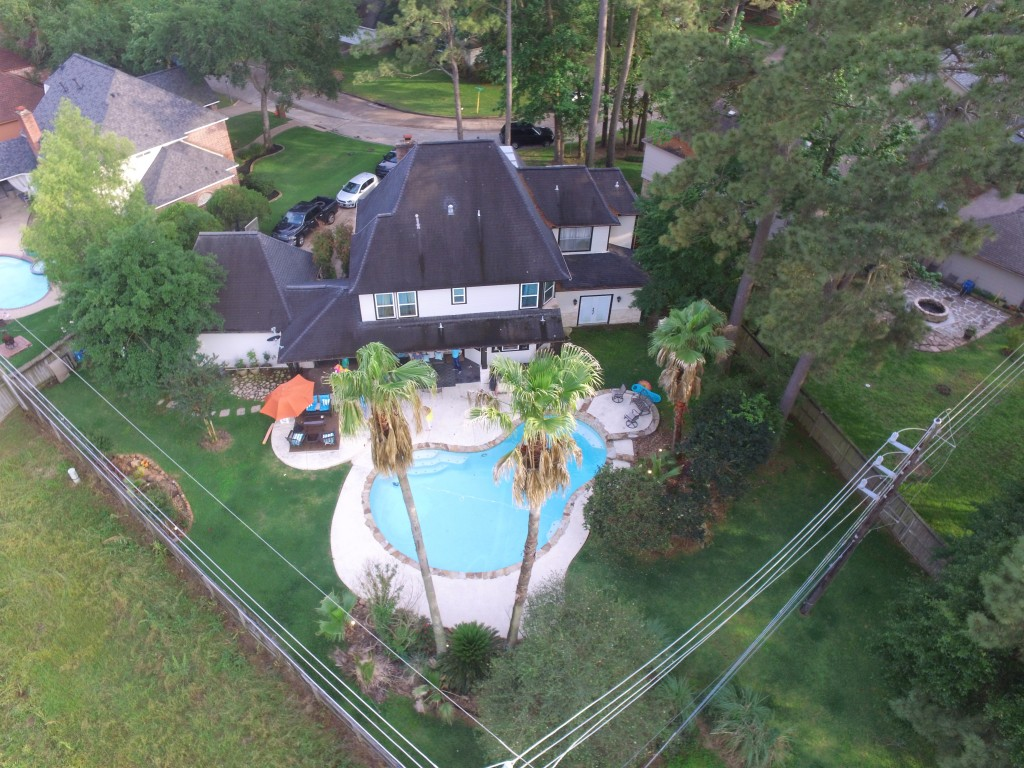 Aerial photography of home