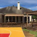 Basketball Court and Pergola