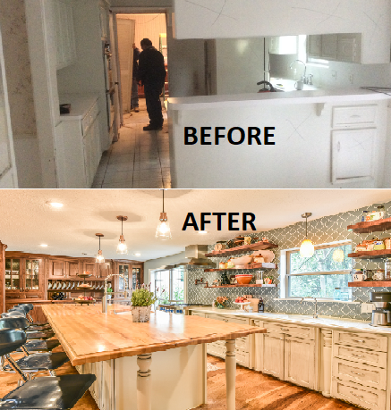 Houston kitchen remodel by Outdoor Homescapes of Houston - before and after. More at www.outdoorhomescapes.com/blog