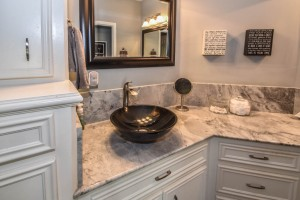 Remodeled Bathroom Counters and Cabinets