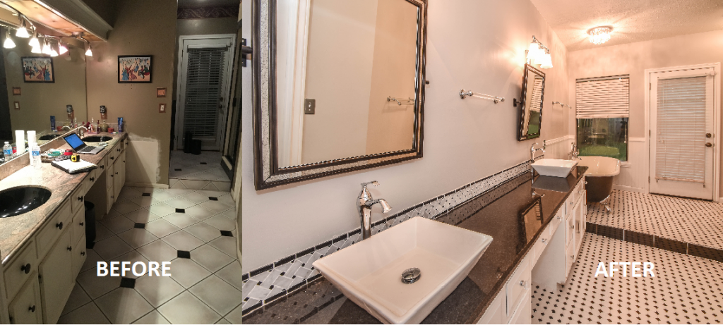 before after bathroom remodel