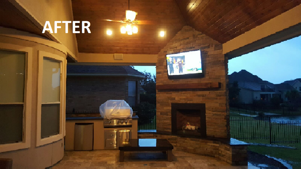 Houston Outdoor Living Design Services After Shot