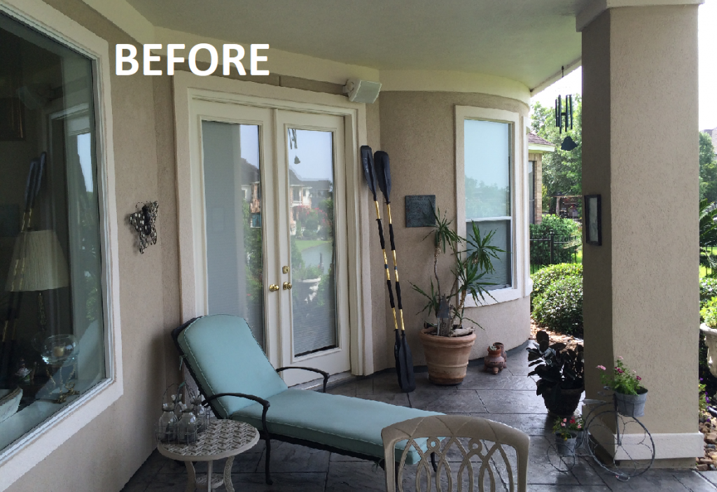 Houston Outdoor Living Design Services Before Shot